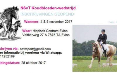 NSvT Koudbloeden-wedstrijd 4 en 5 november