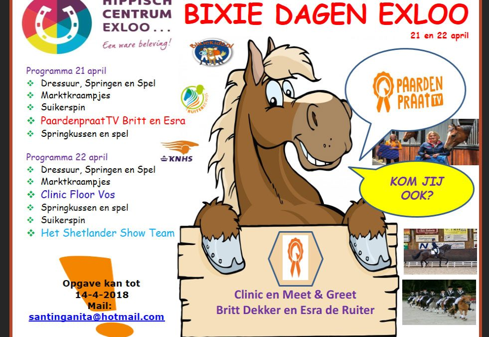 Bixie Dagen Exloo