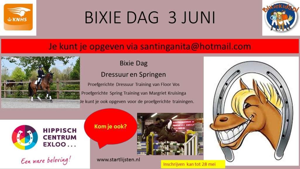 BIXIE DAG  3 JUNI